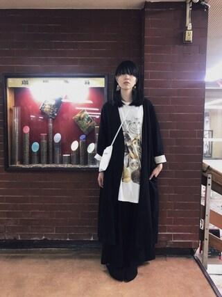 「enrica×かぐれ リネンショップコート(かぐれ)」 using this 小谷実由 looks