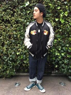 AVIREX 渋谷 kazukiさんの(AVIREX アヴィレックス)を使ったコーディネート