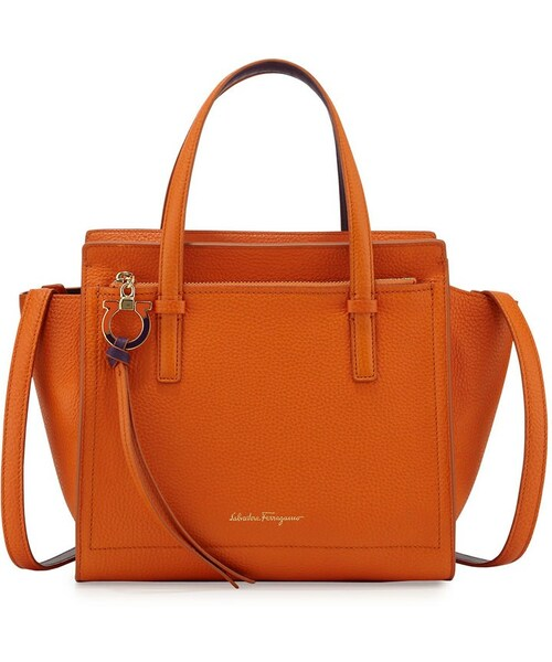 5d7d4be76f 「Salvatore Ferragamo Amy Small Gancio Leather Tote Bag