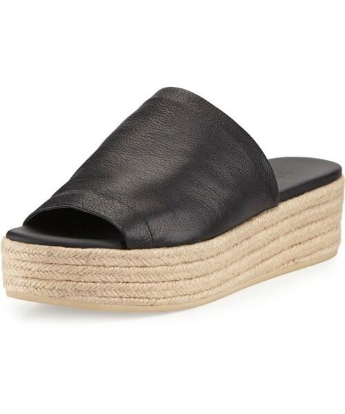 9fcf6c47f74e Vince(ヴィンス)の「Vince Solana Leather Platform Espadrille Sandal ...