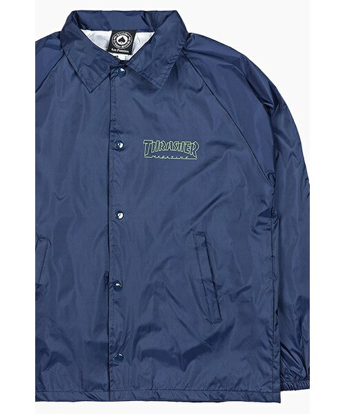 55784139e047 THRASHER(スラッシャー)の「Circuit Goat Coach Jacket Navy(スーツ ネクタイ)」 - WEAR
