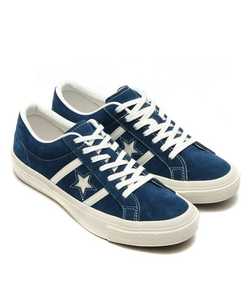 low priced c58ef c63d3 CONVERSE(コンバース)の「CONVERSE STAR   BARS SUEDE ネイビー ホワイト(シューズ)」 - WEAR