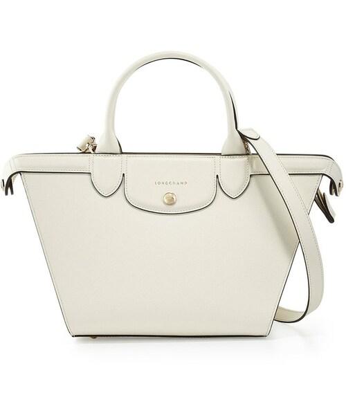 04ad74cb45bf Longchamp(ロンシャン)の「Longchamp Le Pliage Heritage Medium Handbag with Strap,  Ecru(ショルダーバッグ)」 - WEAR
