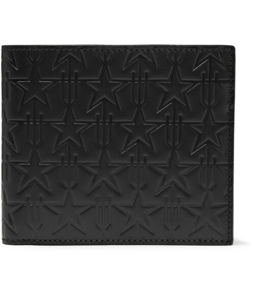 f0f6d710c3 Givenchy(ジバンシィ)の「Givenchy Star-Embossed Leather Billfold ...