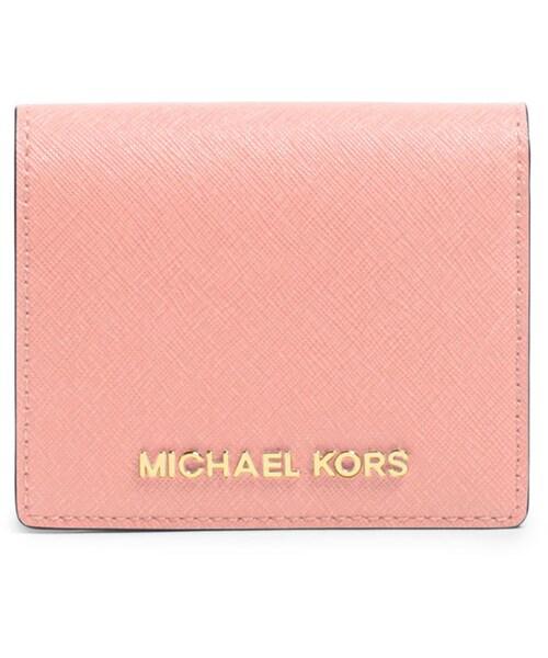 15dcde42d887 MICHAEL Michael Kors,MICHAEL Michael Kors Jet Set Travel Flap Card Holder,  Pale Pink - WEAR