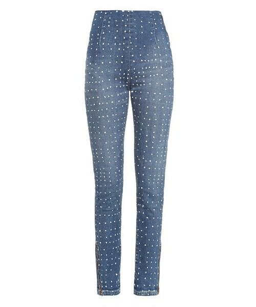 68cb8985e4392 Visvim,VISVIM High-rise polka-dot skinny jeans - WEAR
