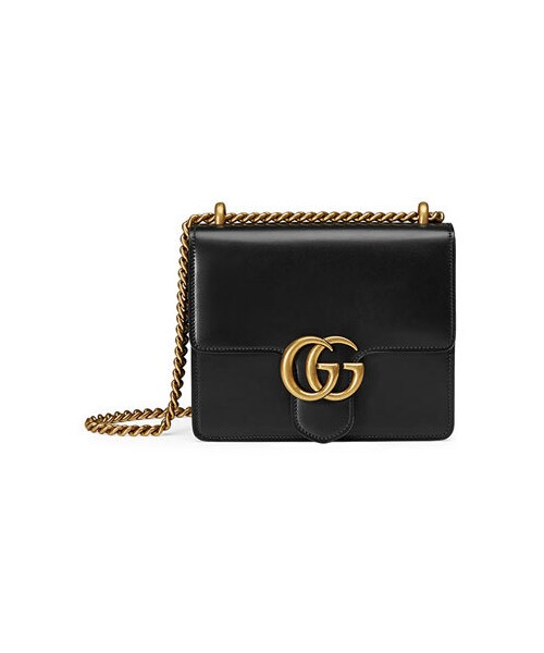 cad17a526579 Gucci,Gucci GG Marmont Small Leather Shoulder Bag, Black - WEAR