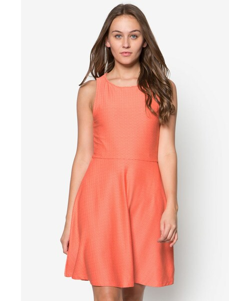 New Look(ニュールック)の「Jersey Jacquard Sleeveless Skater Dress ... 44129865d