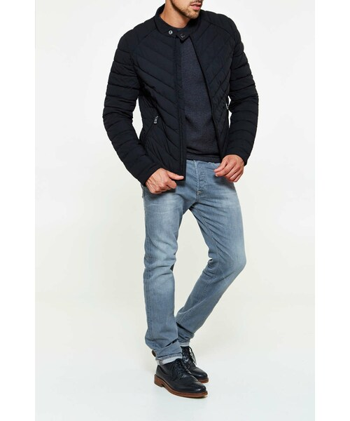 8e7ad23bc74a Guess(ゲス)の「Doudoune Guess Jeans Super Fitted Jacket Noir Homme ...