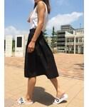 copine | ギャザーフレアミディ丈スカート(3color)(スカート)
