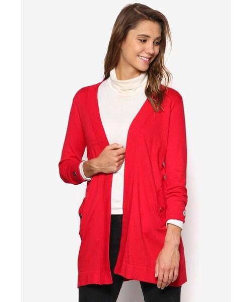 cb95a9754a Wallis(ワリス)の「Petite Red Longline Cardigan(その他)」 - WEAR