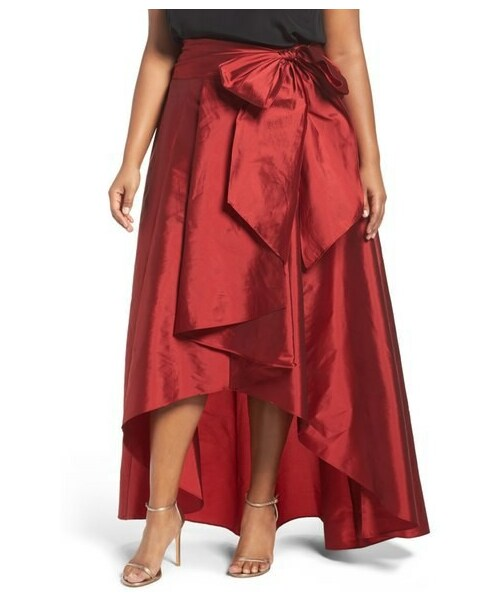 21dc79508ac Adrianna Papell(-)の「Adrianna Papell High Low Taffeta Skirt (Plus ...