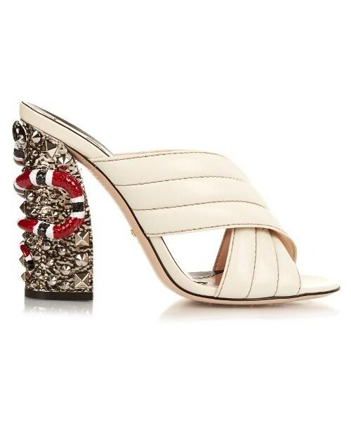 f4b091948 Gucci,GUCCI Webby embellished-heel mules - WEAR