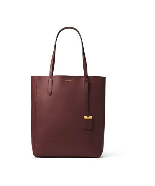 a1e458032501 「Michael Kors Collection Eleanor Large North-South Tote Bag, Burgundy」