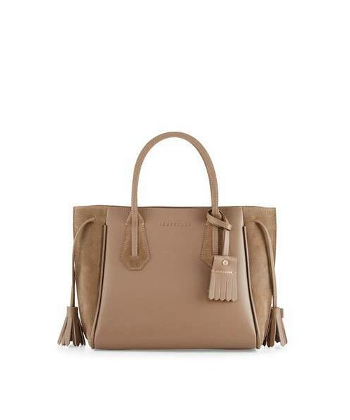 1e3601186361 Longchamp(ロンシャン)の「Longchamp Penelope Small Leather & Suede Tote Bag,  Taupe(トートバッグ)」 - WEAR