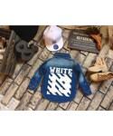 no brand(ノーブランド)の「【再入荷】OR37  バックプリントデニムシャツ/blue(シャツ・ブラウス)」