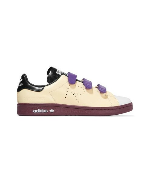 caaefeac5a29 「Adidas Originals - + Raf Simons Stan Smith Color-block Perforated Leather  Sneakers -