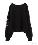 w closet | 袖刺繍スリット入りプルオーバー()