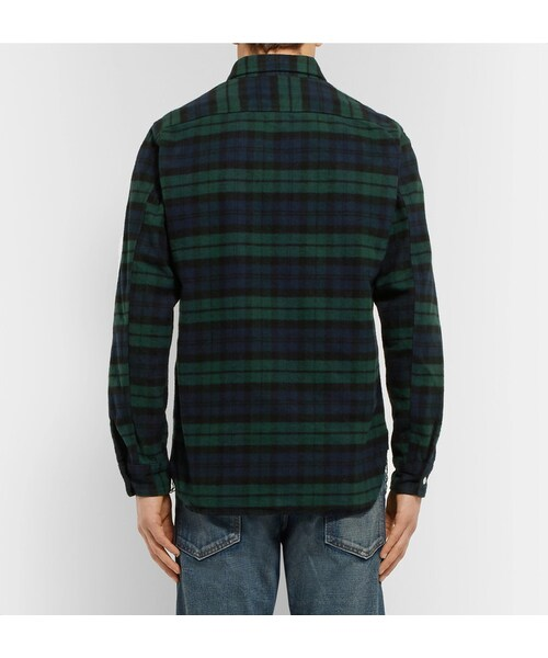 Beams beams plus slim fit black watch checked for Black watch flannel shirt