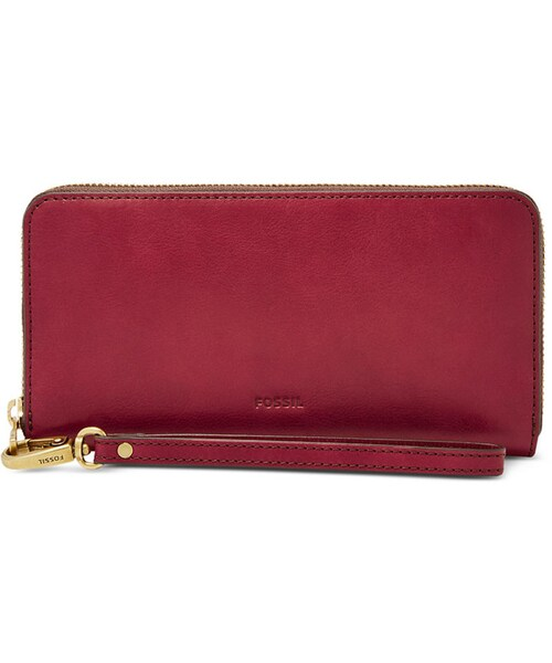 e0e49a92464f Fossil(フォッシル)の「Fossil Emma RFID Large Zip Clutch Wallet ...