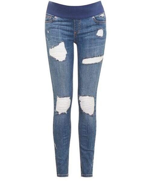 732f032580f52 Topshop(トップショップ)の「Topshop Maternity rip jamie jeans ...