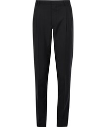 Prada「Prada Tapered Double-Pleat Wool and Mohair-Blend Trousers(Pants)」