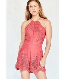 The Jetset Diaries「The Jetset Diaries Vierna Crochet High-Neck Romper(One piece dress)」