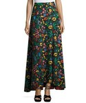 Alice + Olivia「Alice + Olivia Athena High-Low Floral Maxi Skirt, Multicolor(Skirt)」