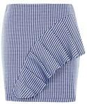 Topshop | Topshop Gingham ruffle jersey mini skirt(Skirt )