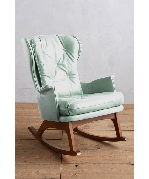 Outstanding Anthropologie Anthropologie Premium Leather Finn Rocking Onthecornerstone Fun Painted Chair Ideas Images Onthecornerstoneorg