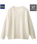 GU(ジーユー)の「(GU)ウールカシミヤセーター(長袖)Z OFF WHITE L(ニット・セーター)」