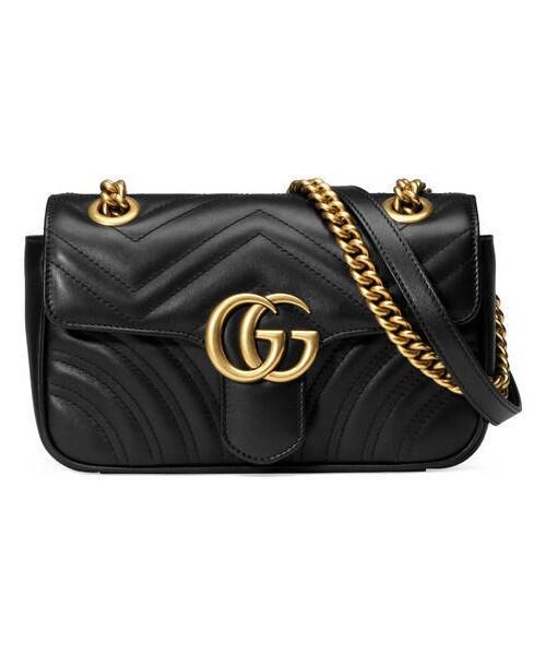 new concept d799c abe16 Gucci(グッチ)の「〔GGマーモント〕 キルティング ミニバッグ ...