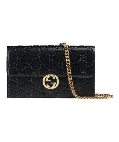 c22a86b912c8 Gucci(グッチ)の「〔グッチ アイコン〕 グッチ シグネチャー チェーン ウォレット(財布)」 - WEAR