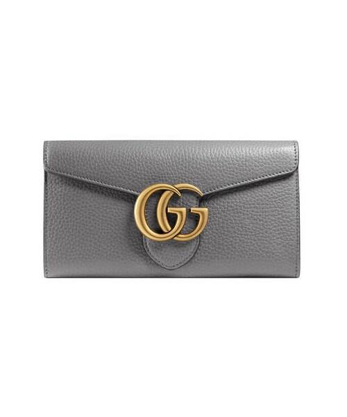 promo code 42739 4e43d Gucci(グッチ)の「〔GGマーモント〕 レザー コンチネンタル ...