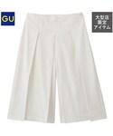 GU(ジーユー)の「(GU)ガウチョパンツZ OFF WHITE S(パンツ)」