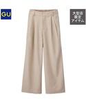 GU(ジーユー)の「(GU)ワイドパンツ(ヘリンボーン)UR BEIGE XL(パンツ)」