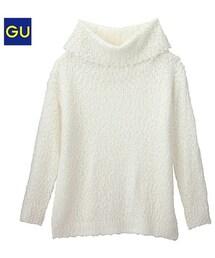 GU(ジーユー)の「(GU)ボリュームタートルセーター(長袖)A OFF WHITE XL(ニット・セーター)」