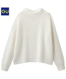 GU(ジーユー)の「(GU)ワイドボクシーセーター(長袖)UR OFF WHITE L(ニット・セーター)」