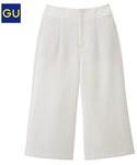 GU(ジーユー)の「(GU)ワイドクロップドパンツA OFF WHITE S(パンツ)」