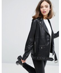 Monki「Monki Faux Leather Biker Jacket(Riders jacket)」