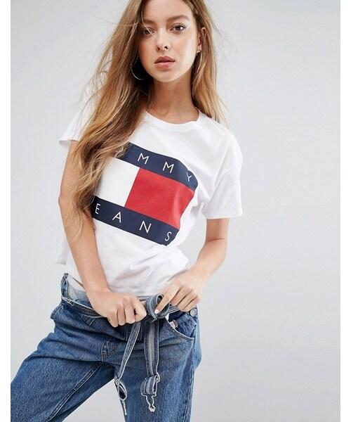 8ba7240c Tommy Jeans,Tommy Jeans Crop Logo T-shirt - WEAR