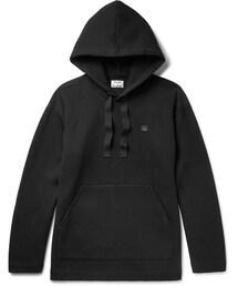 Acne Studios「Acne Studios Florida Oversized Fleece-Back Cotton-Blend Jersey Hoodie(Sweatshirt)」