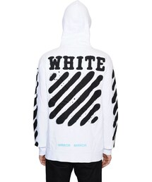 off white「Spray Stripes Zip-Up Cotton Sweatshirt(Sweatshirt)」
