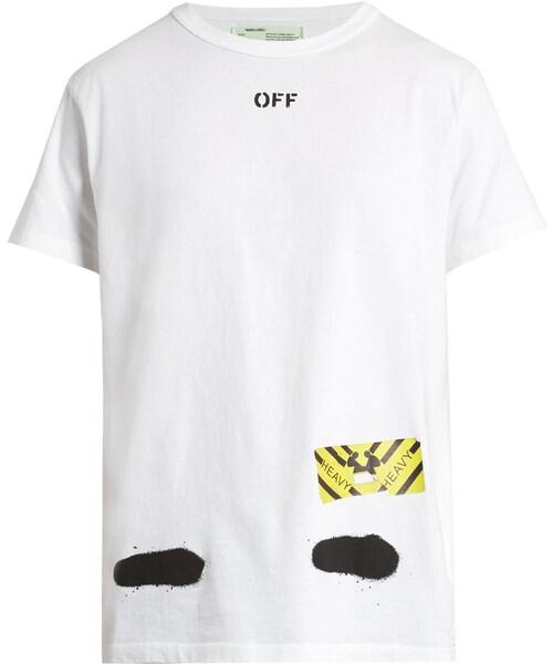 0c5c71e3 off white,OFF-WHITE Spray-print cotton-jersey T-shirt - WEAR