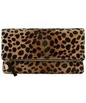 CLARE VIVIER | Clare V. Leopard Haircalf Fold Over Clutch(Clutch)