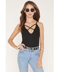 FOREVER 21(フォーエバー トゥエンティーワン)の「FOREVER 21 Crisscross-Front Ribbed Cami(キャミソール)」