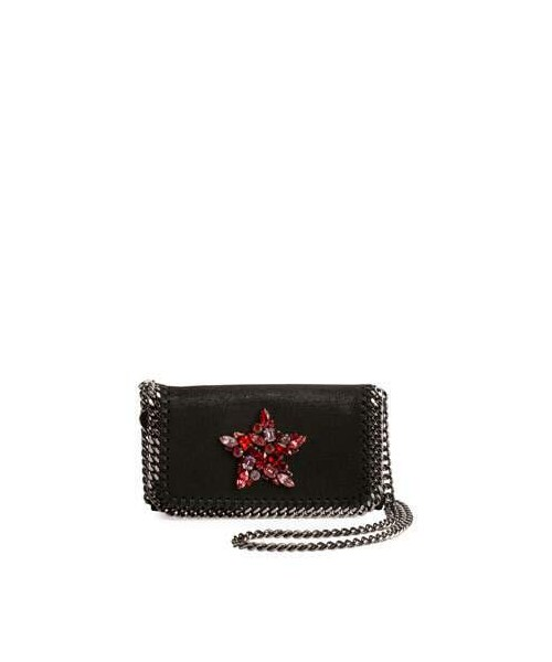c2426657637 Stella McCartney,Stella McCartney Falabella Crystal-Star Crossbody Clutch  Bag, Black - WEAR