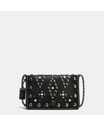 COACH「COACH Coach Western Rivets Dinky Crossbody 24 In Glovetanned Leather(Shoulderbag)」