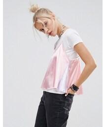 no brand「The Ragged Priest Pastel Satin Slip Over T-Shirt(T Shirts)」