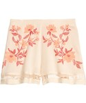 H&M「H&M - Patterned Shorts - Natural white/floral - Ladies(Pants)」